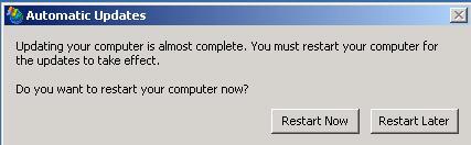 windows updates restart prompt