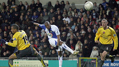 beny mccarthy arsenal blackburn goal