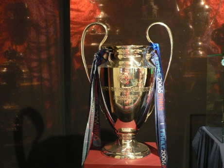 arsenal barcelona champions league 2006 trophy
