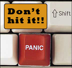 Don't hit the panic button